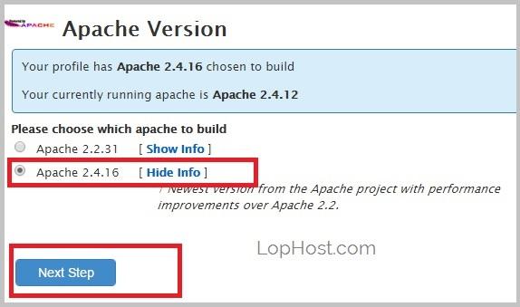 cpanel-easyapache-apache-version