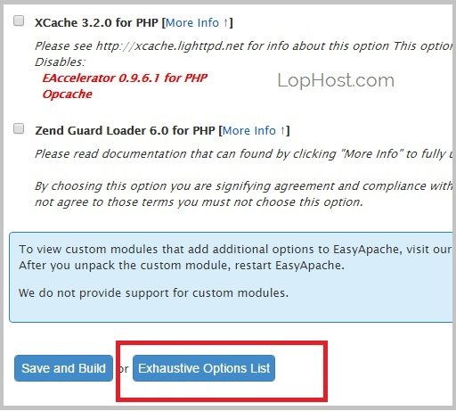 cpanel-easyapache-exhaustive-option-list