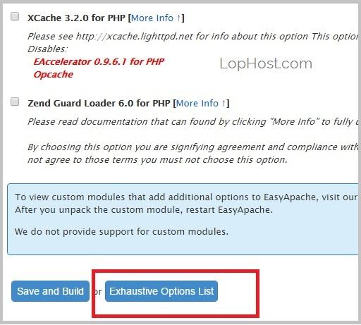 cpanel-easyapache-exhaustive-option-list